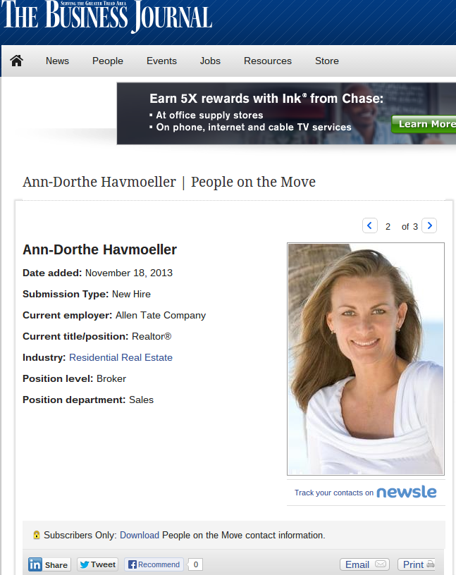 Ann Dorthe Havmoeller People on the Move Greensboro The Business Journal (1)